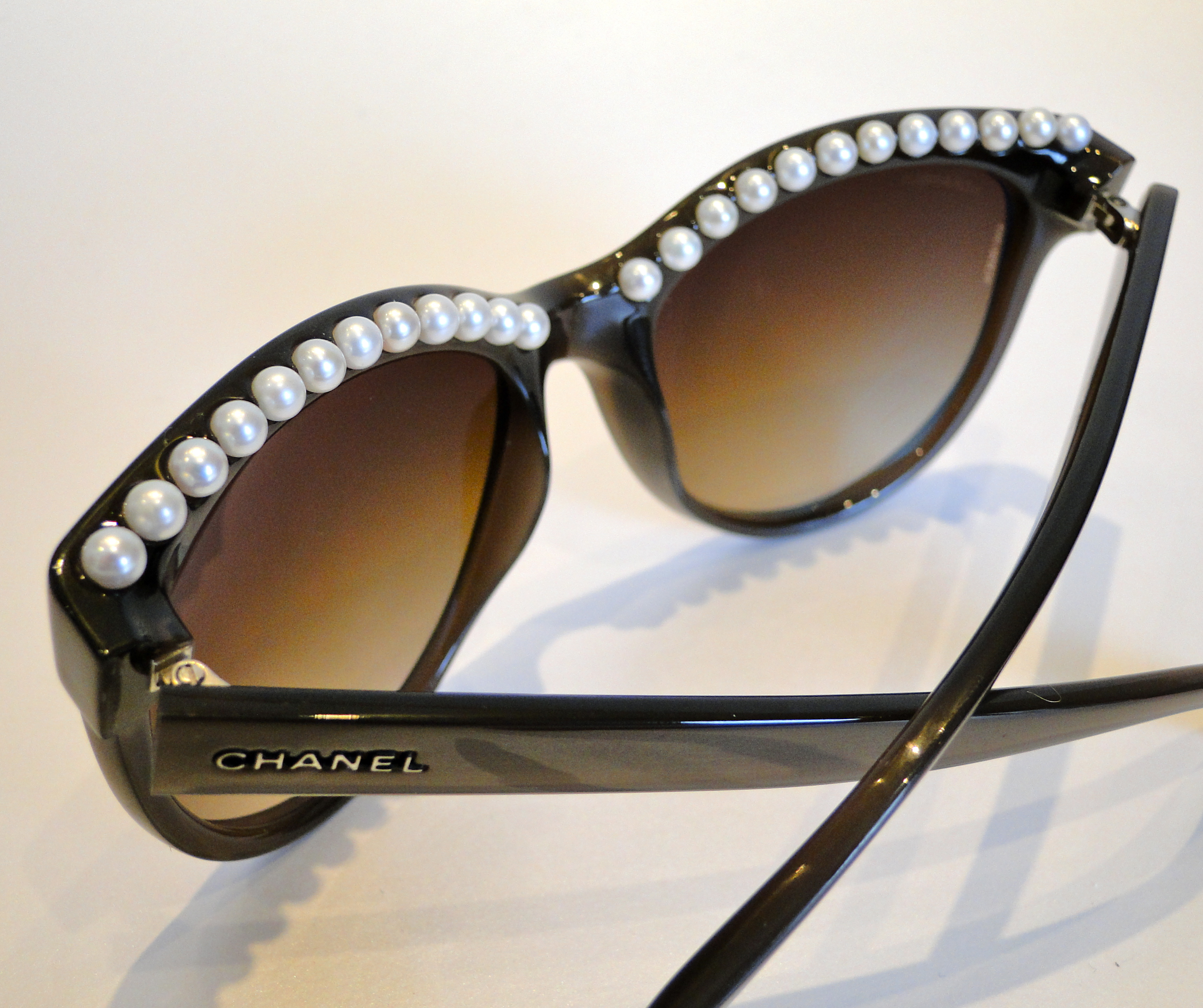 Chanel Eyeglass Frames With Pearls : Chanel Pearl Sunglasses The Luxe List