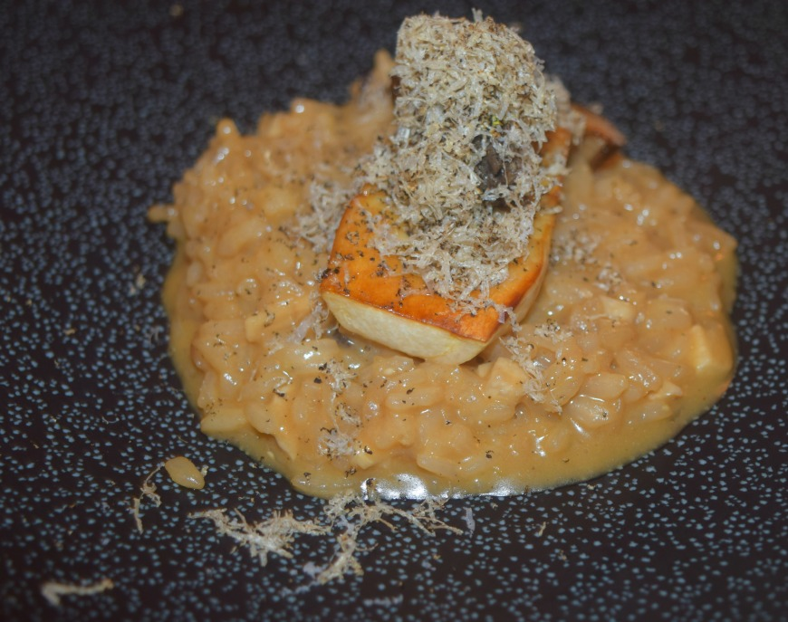 Summer truffle risotto, king oyster mushroom and mushroom ketchup